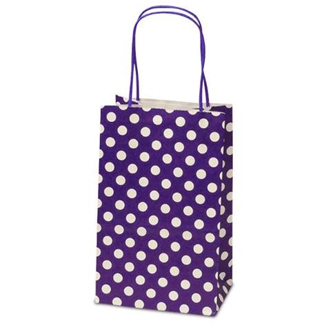 Purple Polka Dot Kraft Bag