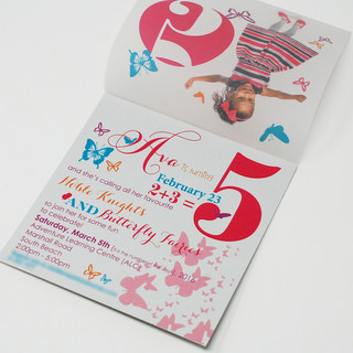 Birthday Invitation Butterfly Theme