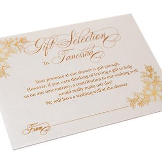 Bridal Shower Monetary Envelope