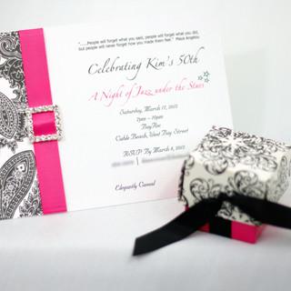 Matching Invitation & Favour Box