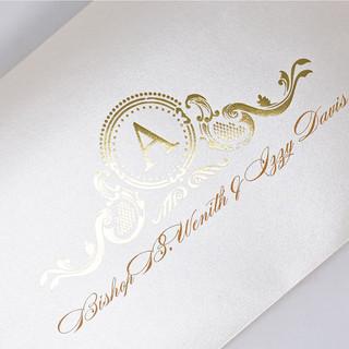 Gold Foiling on Envelopes