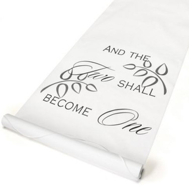 Two Shall Become One - Aisle Runner