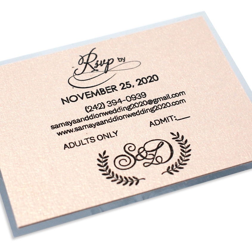 Reception and RSVP Card