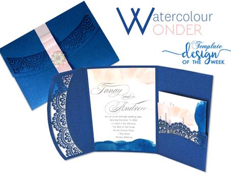 Design Of The Week - Watercolour Wonder | Tanay & Andrew
