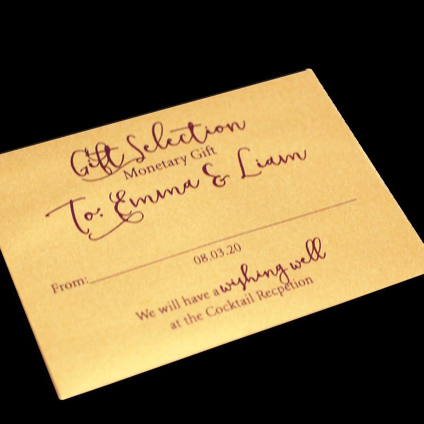 Monetary Gift Envelope