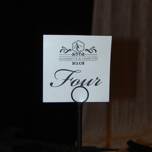 Monogram Table Cards