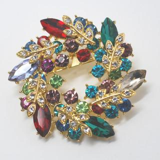 Colourful Wreath Brooch