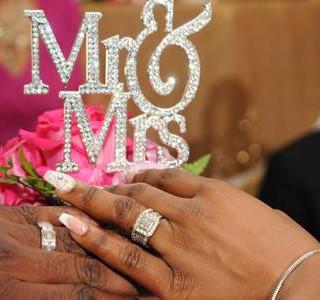 Mr. & Mrs. Rhinestone Caketopper