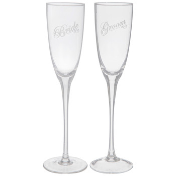 Bride & Groom Etched Toasting Glasses