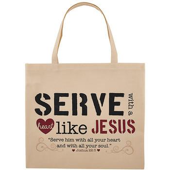 NEW - Serve with a Heart Like Jesus  Tote  Bag