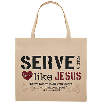NEW - Serve with a Heart Like Jesus  Tote  Bag