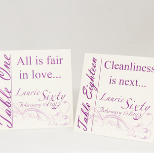 Table Cards with Verses & Quotes