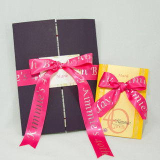 Gatefolds with Personalized Ribbons