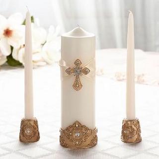 Gold  Candle Holder Set