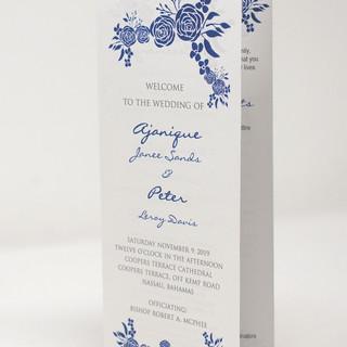 Blue Floral Trifold