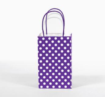 Purple Polka Dot Bag