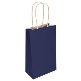 Navy Blue Kraft Bag