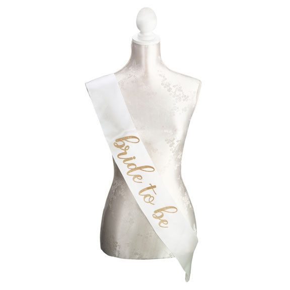 Ivory & Gold Bride To Be Sash