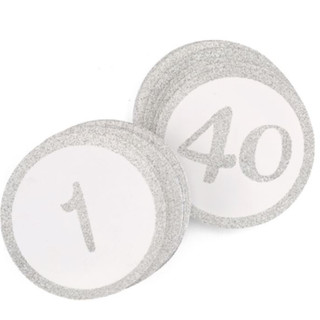 Glitter - Table Cards - Silver