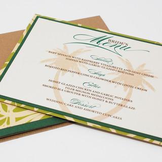 Menu Card in Panel Pocket - Be Original