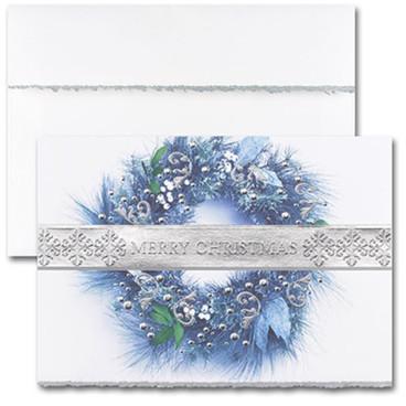 Blue Wreath Merry Christmas