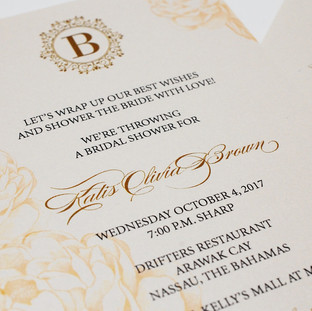 Katis Bridal Shower Invite
