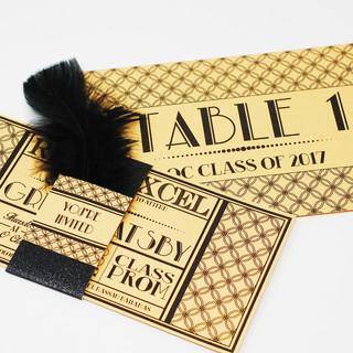 Gatsby Style Invitation with matching Ta