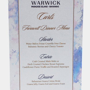 Menus for all occasions