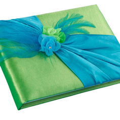 Blue & Green Guest Book