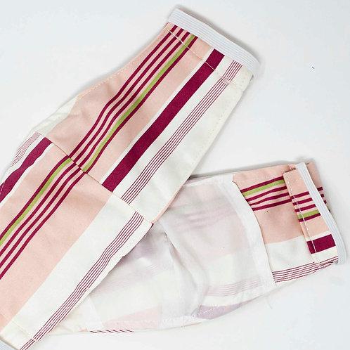 Pink Striped Mask