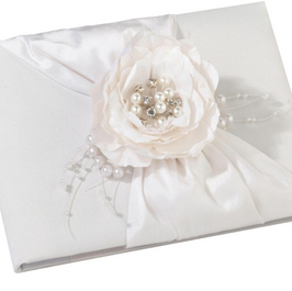 Vintage White Guest Book
