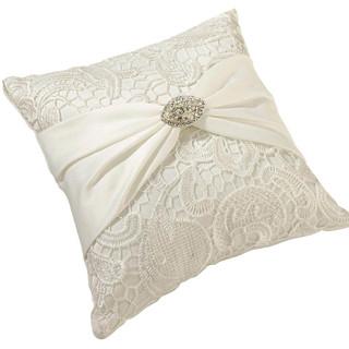 Vintage Cream Lace Pillow