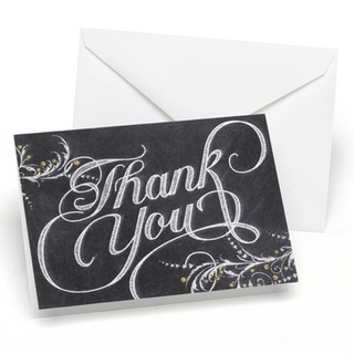 Whimsical Chalkboard - Thank You Card and Envelope