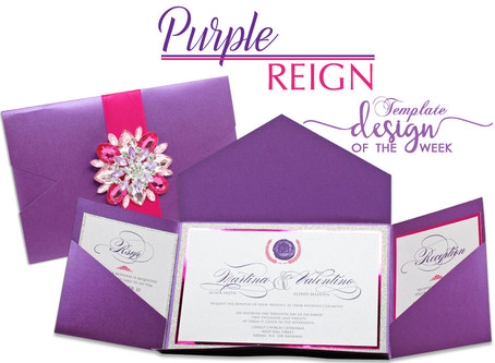 Design Of The Week - Purple Reign | Martina & Valentino