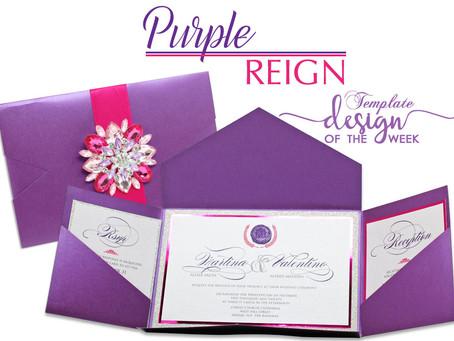 Design Of The Week - Purple Reign | Martina & Valentino