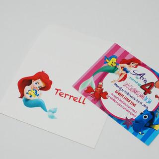 Little Mermaid Theme Invitation