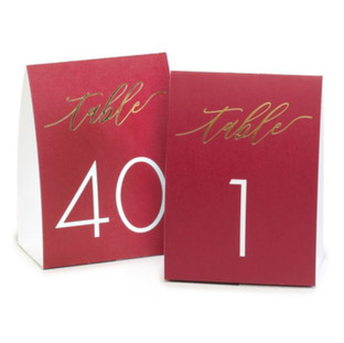 Burgundy Tented Table Cards