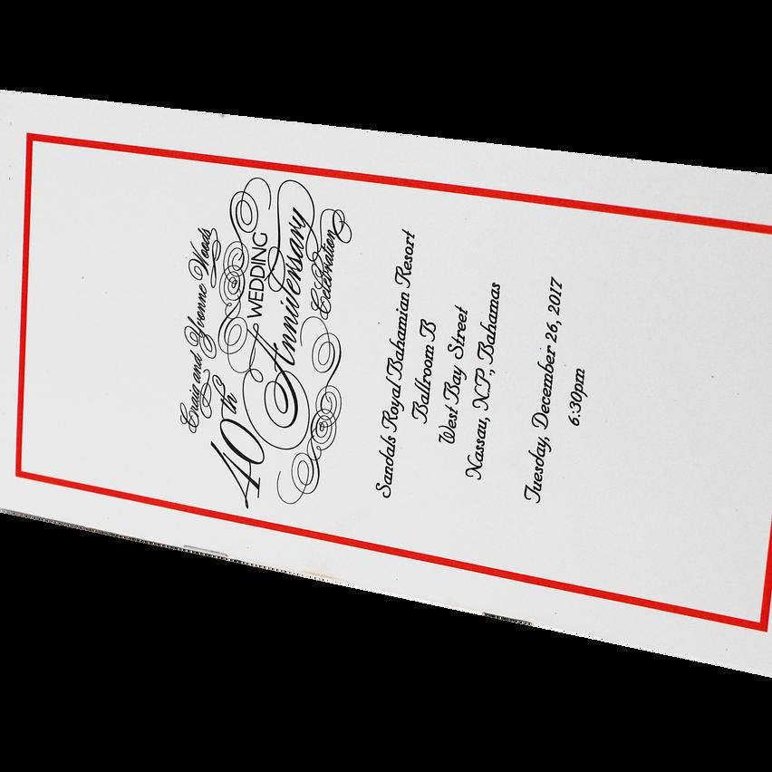 Wedding Anniversary Program