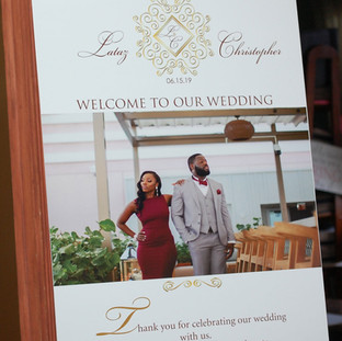 Lataz & Christopher Welcome Sign