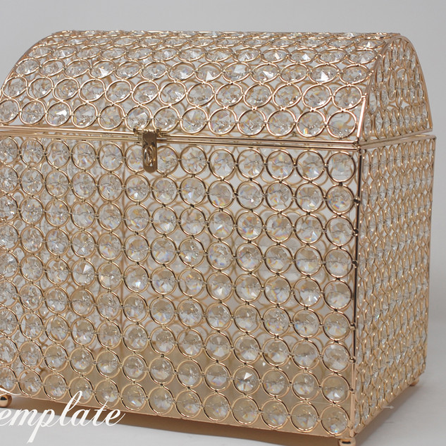 Gold Glass Beaded Gift Box