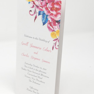 Pink Floral Trifold