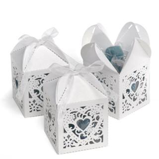 Square Decorative Favour Boxes - White