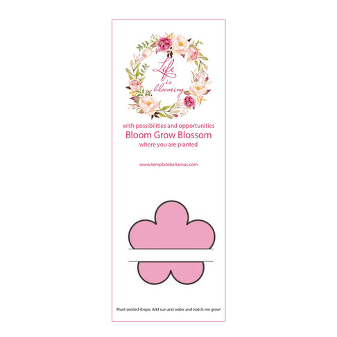 New Plant-A-Shape Flower Seed Bookmark