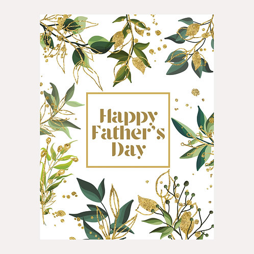 Gold Leaf Father's Day Card