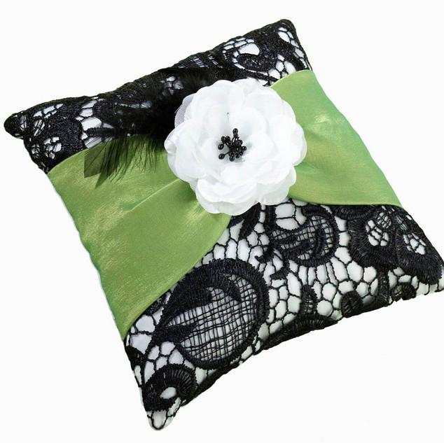 Green & Black Ring Pillow