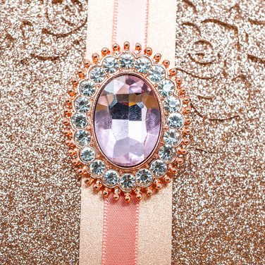 Rose Gold Large Pink Stone w/ Pin