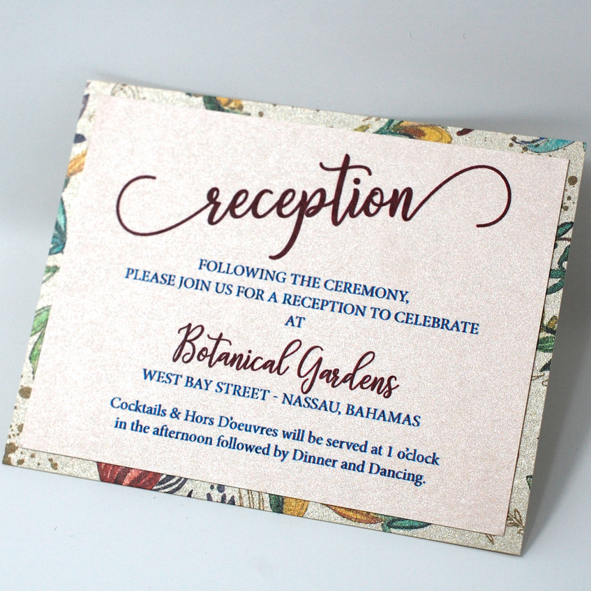 Plus a reception card to match!