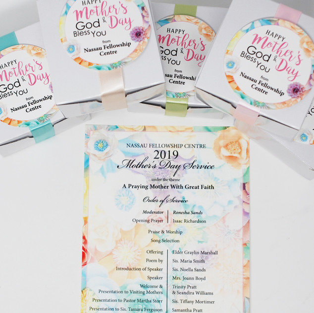 Mother's Day Boxes with Program