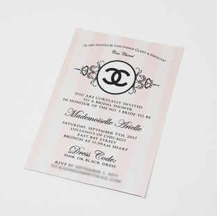 Chanel Theme Bridal Shower Invite