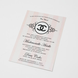 Chanel Theme Bridal Shower Invite